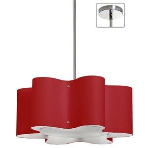 Dainolite Zulu Pendant Light - 3-Light - 20-in x 8-in - Red