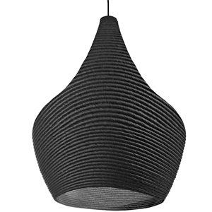 Dainolite Mashe Pendant Light - 1-Light - 10.25-in x 18.25-in - Black