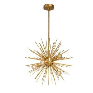 Dainolite Vega Pendant Light - 6-Light - 20-in x 20-in - Gold