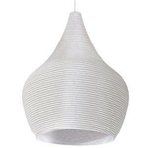 Dainolite Mashe Pendant Light - 1-Light - 10.25-in x 18.25-in - White