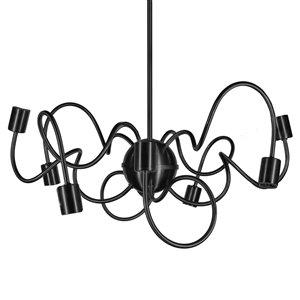 Dainolite Waitsfield Pendant Light - 8-Light - 25-in x 10-in - Matte Black