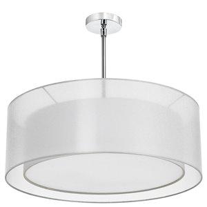 Dainolite Melissa Pendant Light - 4-Light - 30-in x 7-in - White