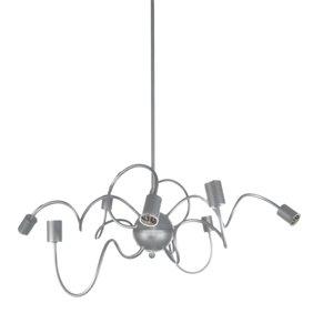 Dainolite Waitsfield Pendant Light - 8-Light - 32-in x 17-in - Satin Chrome