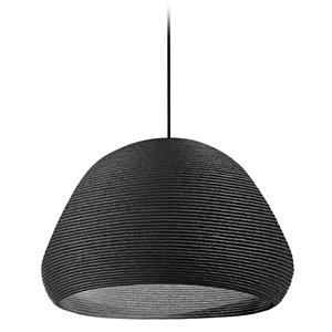 Dainolite Mashe Pendant Light - 1-Light - 15-in x 13.75-in - Black