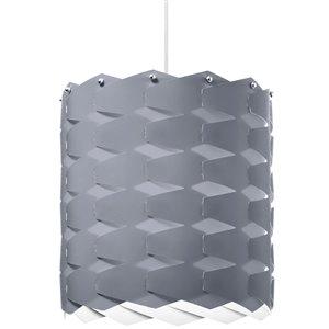 Dainolite Puzzle Pendant Light - 1-Light - 12-in x 13-in - Grey