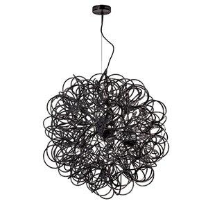 Dainolite Baya Pendant Light - 8-Light - 24-in x 24-in - Black