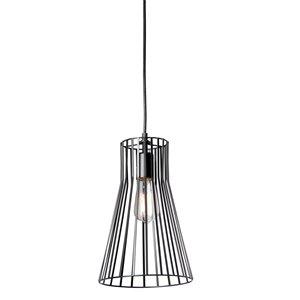 Dainolite Signature Pendant Light - 1-Light - 8-in x 12.5-in - Black