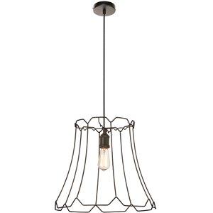Dainolite Belenko Pendant Light - 1-Light - 18-in x 16-in - Matte Black