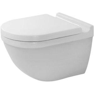 Duravit Starck 3 Wall-Mounted Toilet - White WonderGliss - 14.38-in x 21.25-in