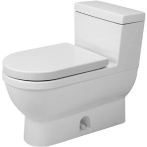 Duravit Happy D.2 One-Piece Toilet - Seat Not Included - White