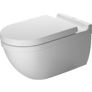 Duravit Starck 3 Wall-Mounted Toilet - White - 14.38-in x 24.38-in