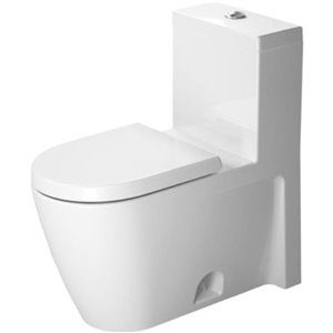 Duravit Starck 2 One-Piece Toilet - Seat Not Included - White