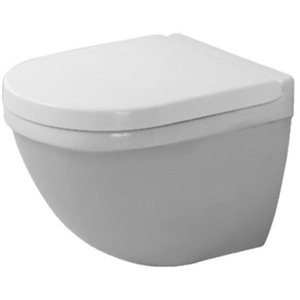 Duravit Starck 3 Wall-Mounted Toilet - White - 14.75-in x 19.13-in