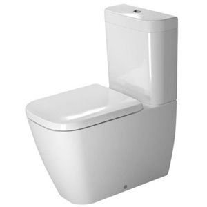 Duravit Happy D.2 Toilet Bowl - White - 14.38-in x 24.75-in