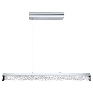 EGLO Trevelo LED Pendant Light -  Chrome Finish with Clear Glass and Aluminum