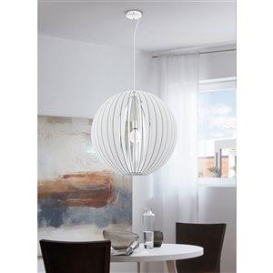 EGLO Maybelle Pendant Light -  White Finish with White Shade