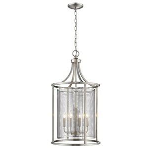 EGLO Verona Pendant Light - 4-Light -  Brushed Nickel Finish with Stainless Steel Shade
