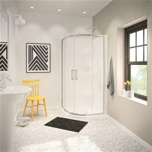 maax 2-piece 40-in width acrylic shower wall set in white