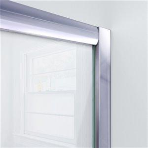 DreamLine Visions Shower Door/Base Kit - 60-in - Chrome