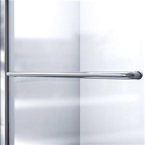 DreamLine Infinity-Z Shower Door/SlimLine Base - 60-in- Nickel