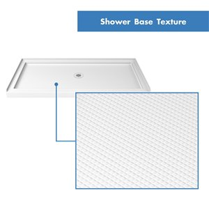 DreamLine QWALL-5 Modern Shower Base and Backwalls - 60-in