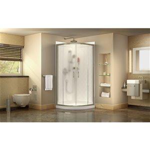DreamLine Prime Shower Enclosure and Base Kit - 38-in - Nickel