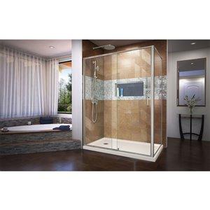 DreamLine Flex Shower Enclosure Kit - 60-in x 74.5-in - Nickel