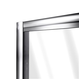 DreamLine Flex Modern Shower Door/Base - 30-in x 60-in - Nickel
