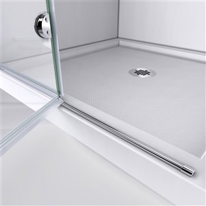 DreamLine Aqua Fold Shower Door Kit - 36-in - Chrome