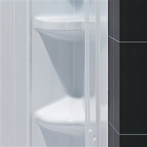 DreamLine QWALL-3 Shower Base and Backwalls Kit - 60-in- White