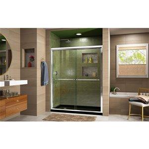 DreamLine Framed Shower Door/Base - 32-in x 60-in - Chrome