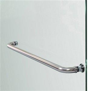 DreamLine Aqua Ultra Shower Door and Base - 60-in - Nickel