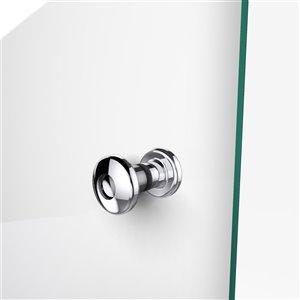 DreamLine Aqua Fold Shower Door and Base Kit - 32-in - Chrome