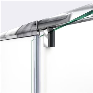 DreamLine Flex Glass Shower Door/Base - 30-in x 60-in- Nickel
