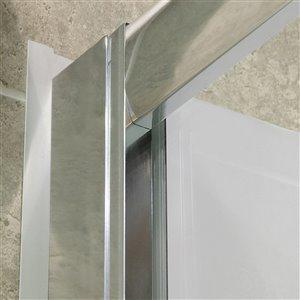 DreamLine Visions Shower Base and Backwalls - 60-in - Nickel