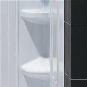 DreamLine QWALL-3 Modern Shower Base and Backwalls - 60-in