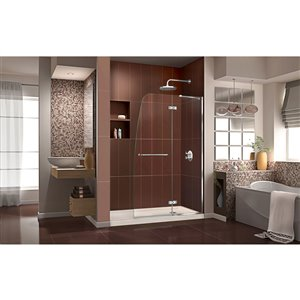 DreamLine Aqua Ultra Glass Shower Door/Base - 60-in - Chrome