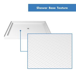 DreamLine QWALL-5 Shower Base and Backwalls - 48-in
