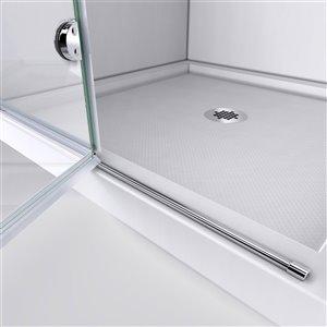 DreamLine Aqua Fold Shower Door and Base Kit - 36-in - Chrome
