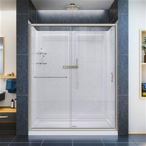 DreamLine Infinity-Z Shower Door Kit - 60-in - Nickel