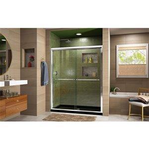DreamLine Duet Glass Shower Door/Base - 34-in x 60-in - Chrome