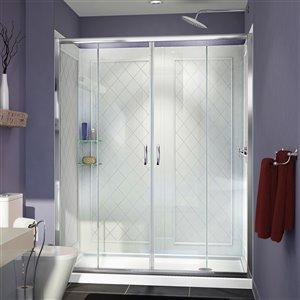 DreamLine Visions Modern Shower Door Kit - 60-in - Chrome