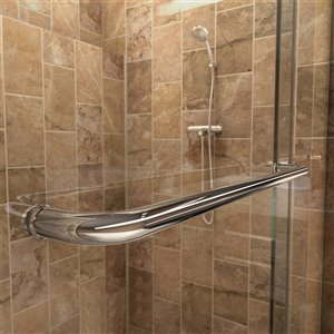 DreamLine Charisma Glass Shower Kit - 60-in - Chrome/Biscuit