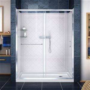DreamLine Infinity-Z Framed Tub/Shower Door - 60-in- Chrome