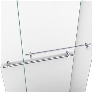 DreamLine Duet Shower Door and Base Kit - 32-in x 60-in - Chrome