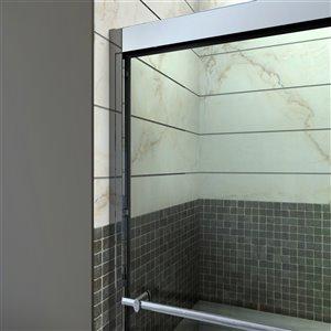 DreamLine Duet Shower Door/Acrylic Base - 36-in x 48-in - Chrome