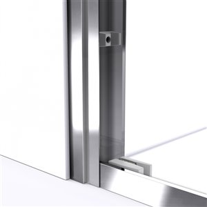 DreamLine Duet Shower Door and Base - 34-in x 60-in - Chrome
