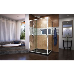 DreamLine Flex Pivot Shower Enclosure Kit -  48-in - Chrome