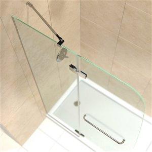 DreamLine Aqua Ultra Modern Shower Door/Base - 60-in - Nickel
