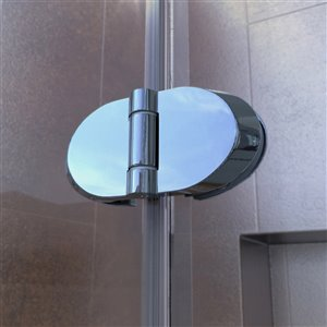 DreamLine Aqua Fold Shower Door/Base - 32-in x 74-in - Chrome